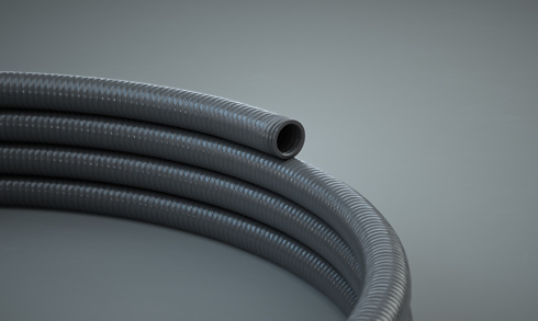 Close up of the winter-resistant hose
